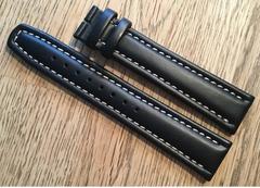 Fortis Flieger Uhrenarmband XL 20 mm schwarz