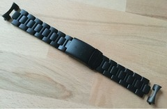 Sinn Stahlband 22 mm Schwarz Tegimentiert für EZM U1, U2, UX