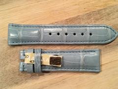Chronoswiss Lederband 20 mm blau kurz