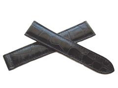 Cartier Krokodil Faltschließenuhrband 18/16 mm schwarz