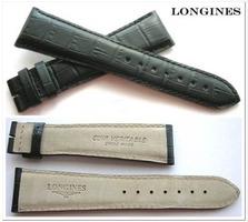 LONGINES XL Kalblederuhrband mit Alligatorprägung 23/18 mm