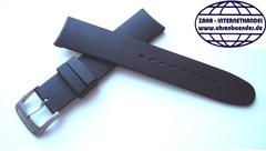 PORSCHE Design Kautschukuhrenband Schwarz 19 mm