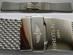Breitling Ocean Classic Edelstahl-Meshband 22 mm