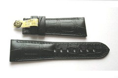 OFFICINE PANERAI Faltschließenband 25/20 mm Echt Alligator Schwarz TIT