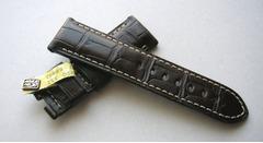 OFFICINE PANERAI Faltschließenband 24/22 mm Echt Alligator