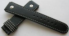 Tutima Echtlederband X363S20 Grand Classic Schwarz 20 mm