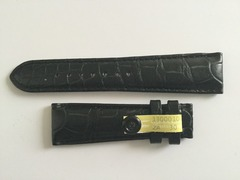 Mühle Glashütte Uhrenarmband 22 mm Alligator schwarz