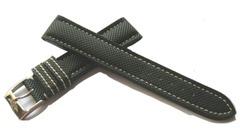 Breitling 106S Cevlar Leather Dornschließenuhrband 18-16 mm Schwarz
