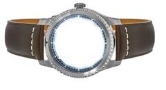 Breitling 490X Navitimer 8 Retro Kalbleder Dornschliessenband 21-18 mm Braun