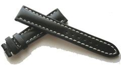 Breitling 420X Kalbleder Dornschließenuhrband Schwarz 19/16 mm