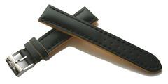 Breitling Superocean Kalblederband schwarz mit Gelben Flanken 229X (22-20 mm)