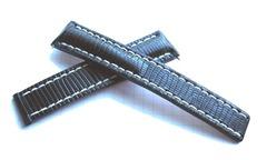Breitling Echt Eidechse 156Z Faltschließenband 20-18 Schwarz für Breitlingfaltschließe