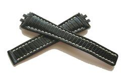 BREITLING 168Z Eidechse Faltschliessenuhrenband 19-14 mm Schwarz
