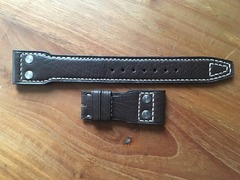 [Verkauft] IWC Big Pilot Lederband braun für Faltschliesse 22-18 mm