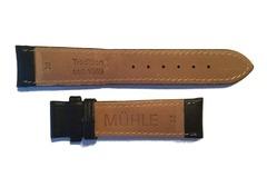 Mühle Glashütte Lederband 20-18 mm schwarz