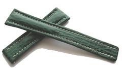 Breitling Echt-Hai Grün für Breitlingfaltschließe 19-16 mm Kurzlänge