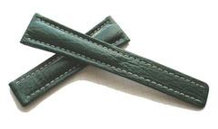 Breitling Echt-Hai Grün für Breitlingfaltschließe 22-18 mm Y167