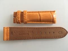 CHRONOSWISS Lederband 20-18 mm Alligator Cognac kurz