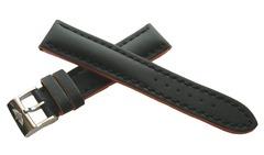 Breitling Superocean Kalblederband schwarz mit Orange Flanken 20-18 mm