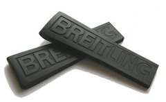 Breitling PRO III Kautschuk-Faltschließenband 22-20 mm schwarz