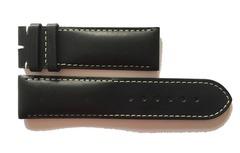 Chopard Uhrenarmband 23 mm Leder schwarz helle Naht