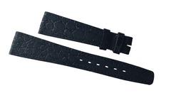 Omega Uhrenband 21/14 mm Krokoleder schwarz