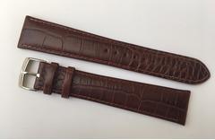 Emporio Armani Uhrband 22 mm braunes Leder lang