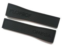 Omega Seamaster Ploprof Rubber Band 98000279 24-20 mm Schwarz