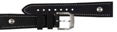 Hanhart Pioneer Kalbleder Nietenuhrband Schwarz 20 mm