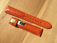 CHRONOSWISS Alligator Lederband 18-16 mm orange