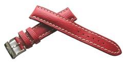 Breitling 219X Kalbleder Dornschließenuhrband Sahara Red 20/18 mm