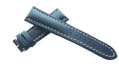 Breitling Kalbleder - Dornschließenuhrband 24-20 Graublau 101X