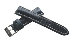 Breitling 746P Echt Alligator Kroko-Dornschließenuhrband 24 mm Blau