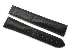 Omega Seamaster Uhrenarmband 19/16 mm Alligator schwarz