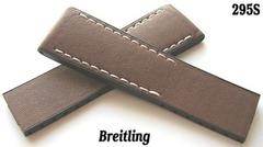 Breitling Twin Pro Faltschließenband Leder/Kautschuk 294S und 295S