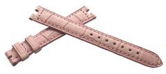 Cartier Krokodil Dornschließenuhrband 14/12 mm mit 4 mm Auskerbung Pink