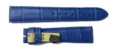 Chronoswiss Uhrband 16 mm Alligator Handmade Royalblau