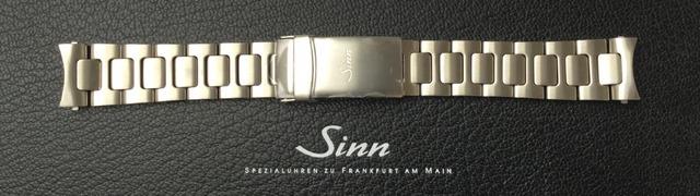 SINN 356 Uhrenarmband Edelstahl matt