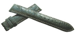 ROLEX KROKODIL (Alligator) LEDERUHRBAND 19/16 mm Grün