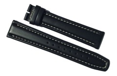 Fortis Flieger Lederband 20 mm schwarz