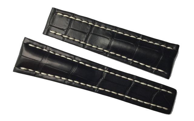 Breitling Alligatorband 24-20 mm Schwarz 761P