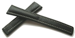 Breitling Kalbleder Dornschliessenband Schwarz 20-16 mm