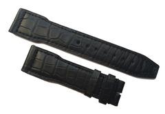 [Verkauft] IWC Uhrenarmband 21/18 mm Alligatorenleder Schwarz