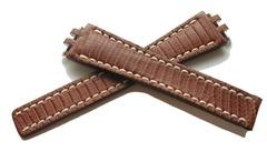 BREITLING 165Z Eidechse Faltschliessenuhrenband 19-14 mm Braun