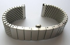 SCHAUER Artus Meshband feingebürstet 22 mm Stärke ca. 4,5 mm