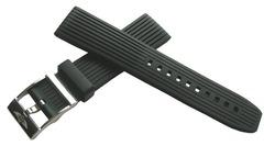 Breitling PRO Ribbed Schwarz Kautschuk-Dornschließenband 22-20 mm 274S