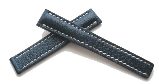 Breitling Faltschließenuhrband 15-14 Blau für Breitlingfaltschließe