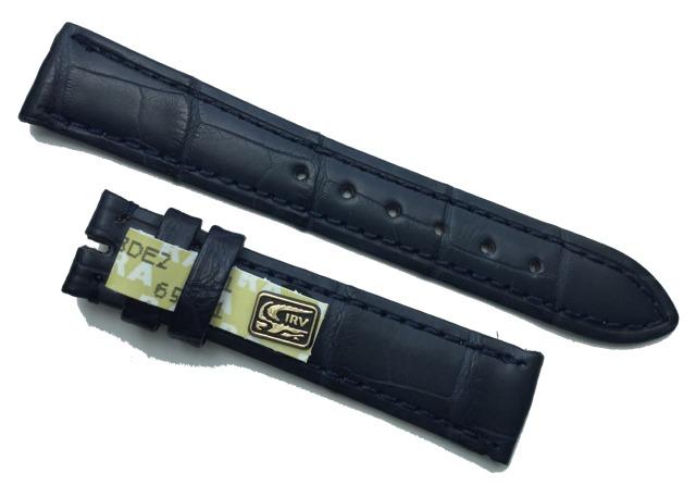 CHRONOSWISS Uhrband Alligatorleder 16/14 mm Dunkelblau