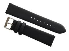 Sternglas Premium Uhrenarmband 20/18 mm Leder schwarz