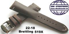 Breitling 519X Retro Kalbleder Dornschliessenband 22-18 mm Braun